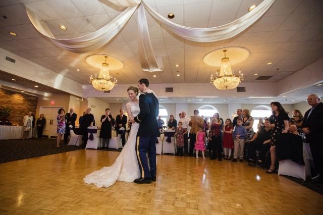 Image of bride & groom dancing