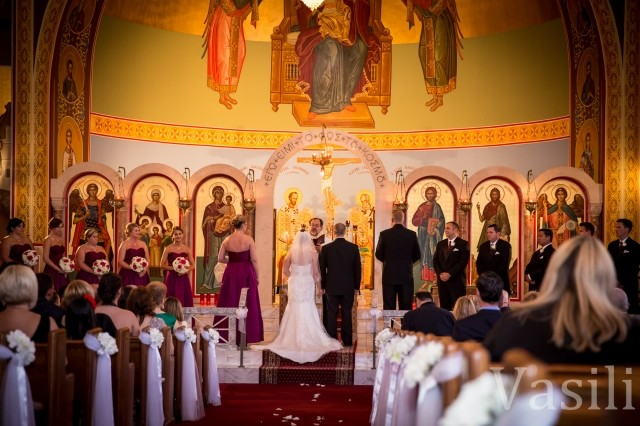 image of wedding in a church