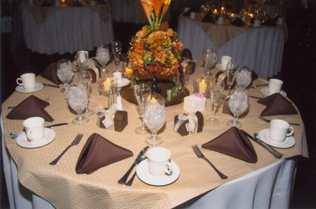 image of wedding reception table