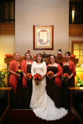 image of bride with bridesmaids