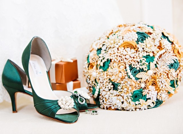 image of shoes and corsage