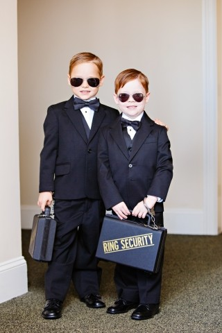 image of two kids in wedding party