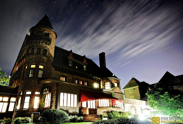 image of building with starry sky