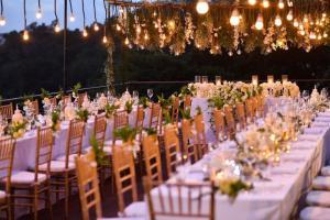 Image of fancy tables, chairs & wedding decorations