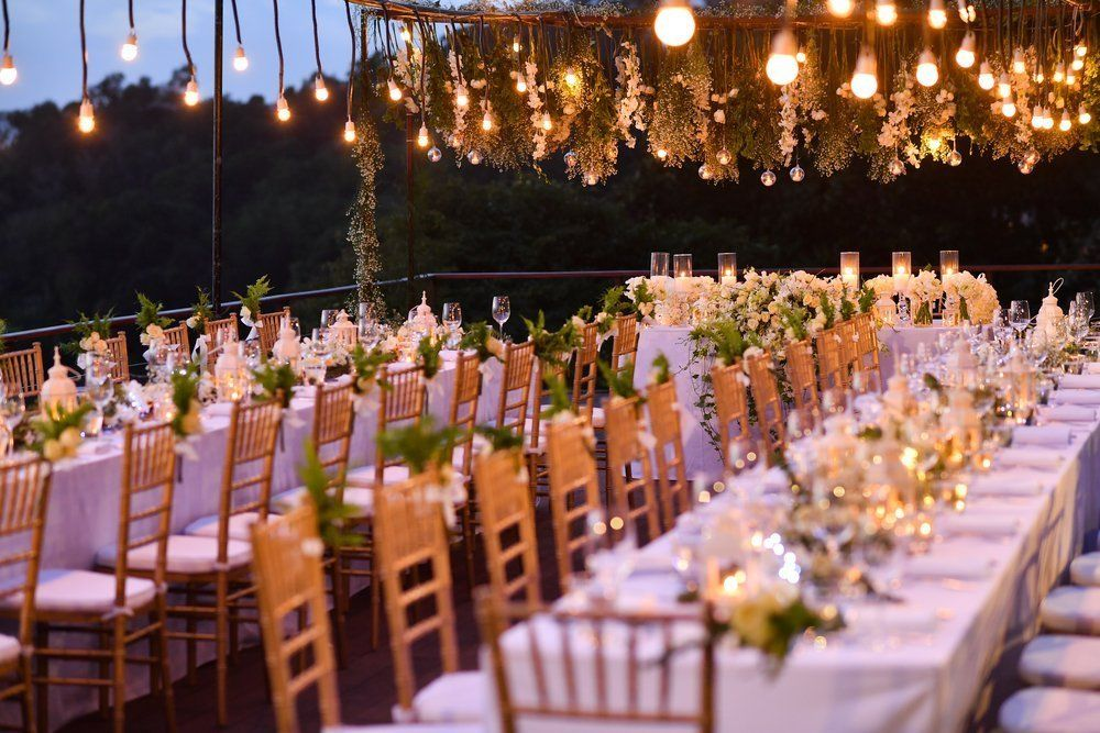 image of fancy tables & wedding decorations