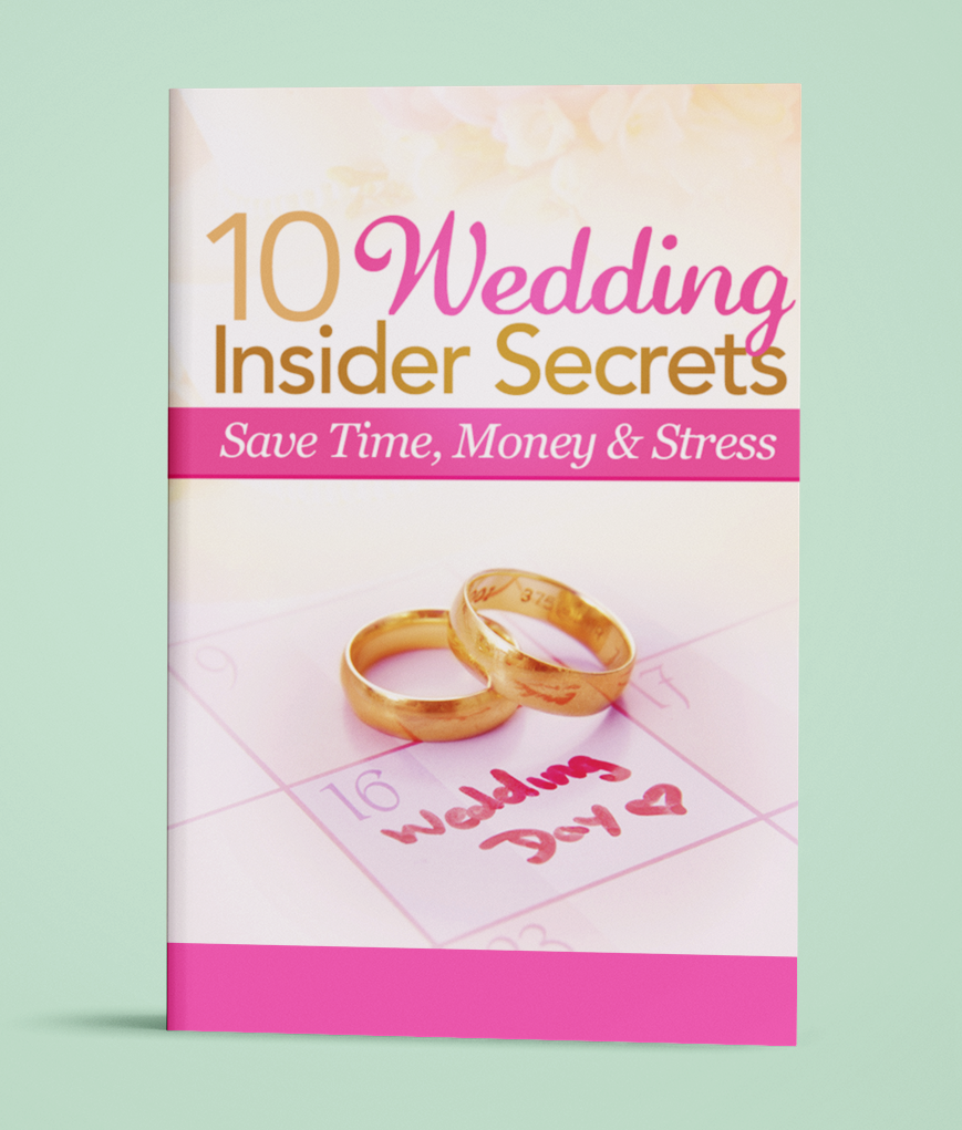 image of free wedding secrets book